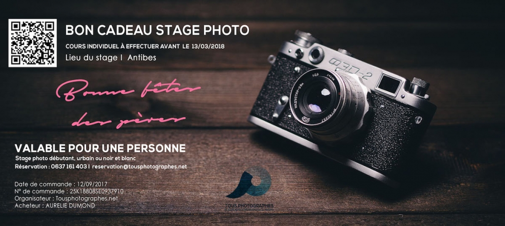 Offrir un un stage photo